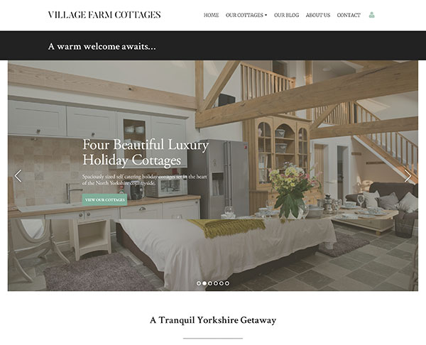 Customer Example - Village Farm Cottages