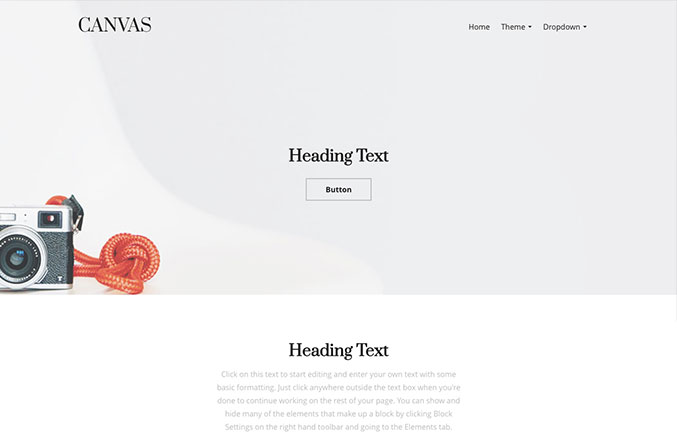 Canvas Website Template