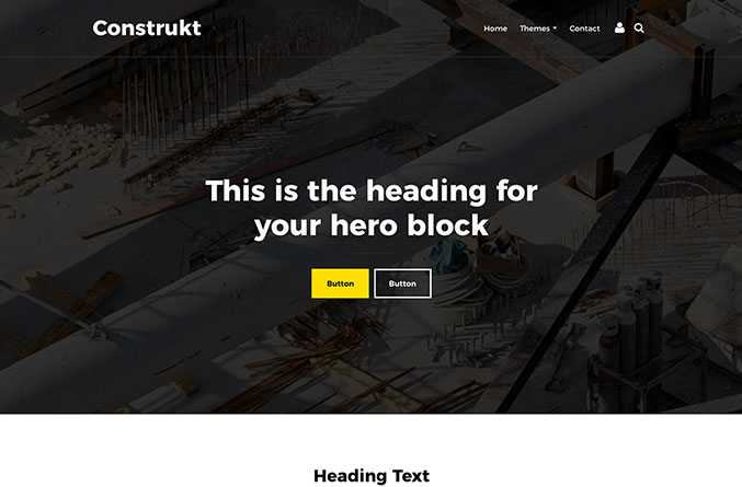 Construkt Website Template