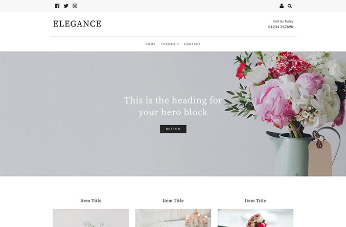 Elegance Website Template