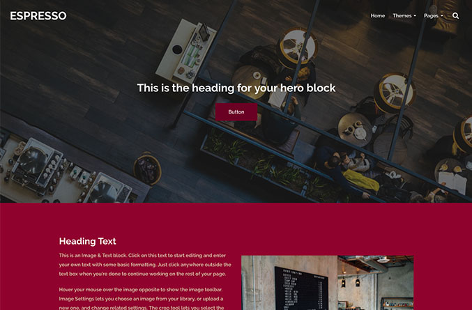 Espresso Website Template