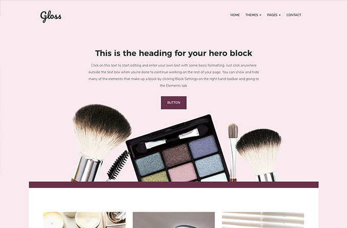 Gloss Website Template