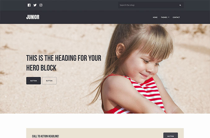 Junior Website Template