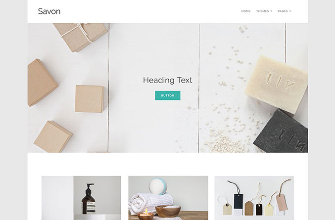 Savon Website Template