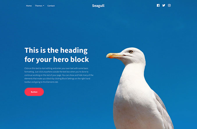 Seagull Website Template
