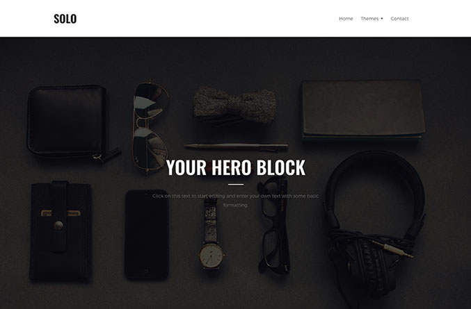 Solo Website Template