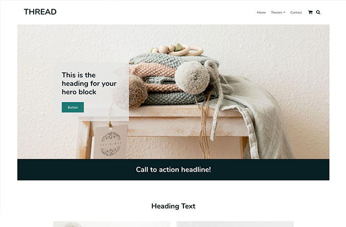 Thread Website Template