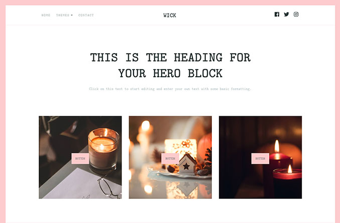 Wick Website Template