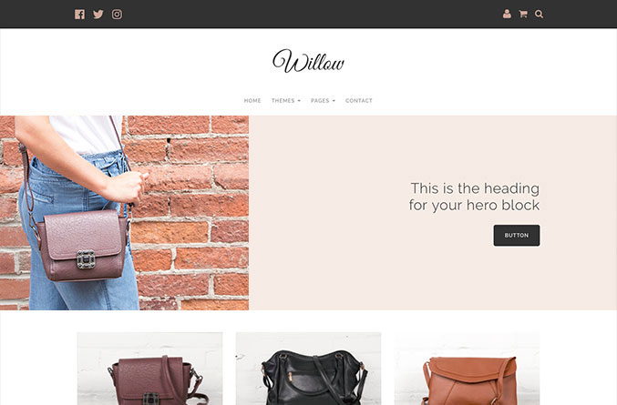 Willow Website Template