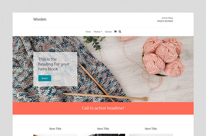 Woollen Website Template